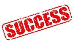 Sukces czerwieni znaczka tekst Zdjęcie Stock