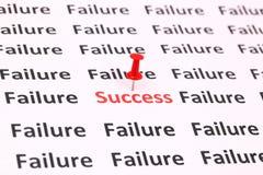 Sukces i fail zdjęcie royalty free