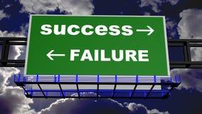 Sukces i niepowodzenie Obraz Stock