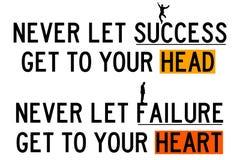 Sukces i niepowodzenie ilustracja wektor