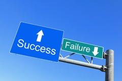 Sukces lub Niepowodzenie - drogowi znaki zdjęcie stock