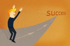 Sukces mężczyzna biznesowy sposób Zdjęcia Stock
