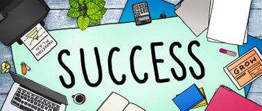 Sukces misi motywaci Turniejowy Wygrany pojęcie Obraz Royalty Free
