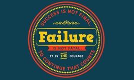 Sukces no jest definitywny, niepowodzenie no jest śmiertelny, ilustracji