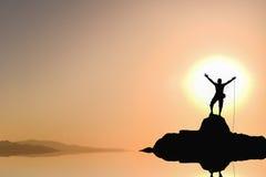 Sukces pasja i szczyt zdjęcie stock