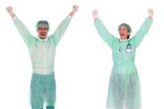 sukces pracowników opieki zdrowotnej Zdjęcia Stock