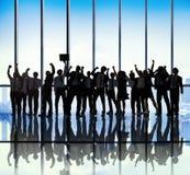 Sukces pracy zespołowej Drużynowej więzi Coworker Biznesowy zajęcie Zdjęcie Stock