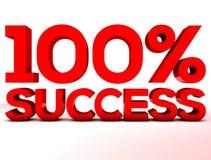 Sukces 100 procentów czerwień Zdjęcie Stock