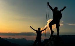 Sukces szczyt wspinaczki arkana obrazy stock
