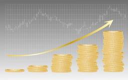Sukces w rynku papierów wartościowych Zdjęcia Royalty Free