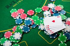 sukces w uprawiać hazard zdjęcia stock