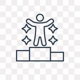 Sukces wektorowa ikona odizolowywająca na przejrzystym tle, liniowy S ilustracja wektor