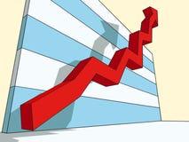 sukces wykresu Obrazy Stock