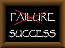 Sukcesu niepowodzenia blackboard kreda Zdjęcia Royalty Free