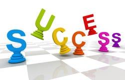 Sukcesu Szachowy słowo Kolorowy Zdjęcie Stock