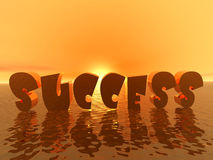 sukcesu wschód słońca Fotografia Royalty Free