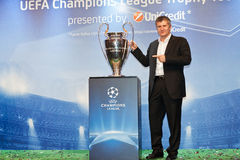 Suker with Champions League Cup Stock Photos