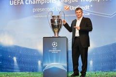 Suker com copo de Champions League Fotos de Stock