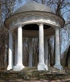 Sukhanovo garden. Pavilion. With antic columns Stock Images