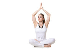 Sukhasana de pose de yoga Photo libre de droits