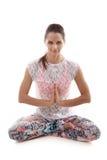 Sukhasana di posa di yoga Fotografia Stock Libera da Diritti