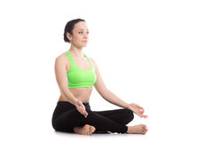 Sukhasana yoga pose Stock Photos