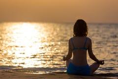 Sukhasana yoga pose Royalty Free Stock Photos