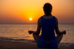 Sukhasana yoga posture Royalty Free Stock Photo