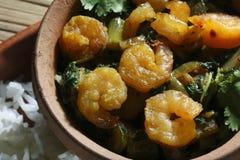 Sukhi Kolmi - A maharashtrian prawn dish Stock Image