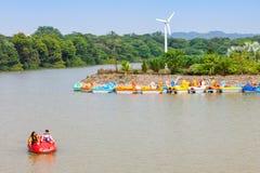Sukhna jezioro, Chandigarh zdjęcie royalty free