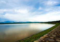 Sukhna lake in Chandigarh India Stock Image