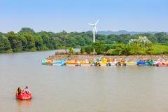 Sukhna sjö, Chandigarh Fotografering för Bildbyråer