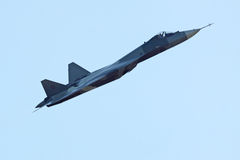 Sukhoi PAK FA T-50 prototype, side view Royalty Free Stock Image