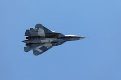 Sukhoi PAK FA T-50 stock photography