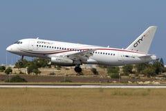 Sukhoi-` s erstes Verkehrsflugzeuge Lizenzfreie Stockbilder