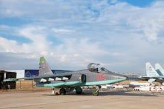 Sukhoi SU-25 (ΝΑΤΟ που εκθέτει το όνομα: Στοκ Εικόνα