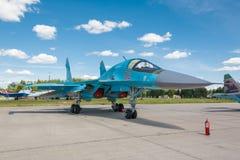 Sukhoi Su-34 (защитник) русский истребитель-бомбардировщик двойн-места Стоковая Фотография