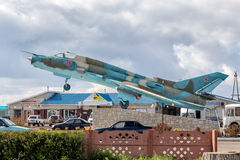 Sukhoi Su-17 памятник Panino Россия Стоковые Изображения