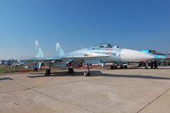 Sukhoi Su-27, side view Royalty Free Stock Photo