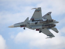 Sukhoi Su-30 Jetfighter Landing Royalty Free Stock Photo