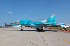 Sukhoi Su-34, side view Royalty Free Stock Image