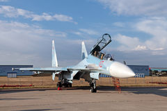 Sukhoi SU-35 (ΝΑΤΟ που εκθέτει το όνομα: Flanker-ε) Στοκ εικόνες με δικαίωμα ελεύθερης χρήσης