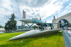 Sukhoi Su-27 on display Royalty Free Stock Photos