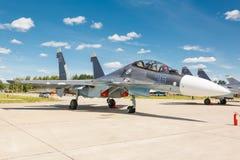 Sukhoi su-30 is een Russisch modern supermaneuverable supersonisch vechtersvliegtuig royalty-vrije stock afbeelding