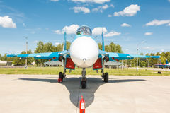 Sukhoi Su-27 (Flanker) is a russian multirole supermaneuverable fighter aircraft Stock Image