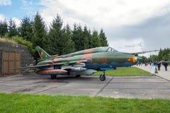 Sukhoi Su-22 instalatora myśliwa samolot Zdjęcia Stock