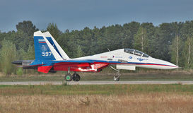 Sukhoi Su-30LL fighter plane Stock Photography