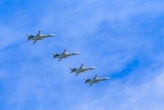 4 Sukhoi Su-24M (Fechter) Lizenzfreies Stockfoto