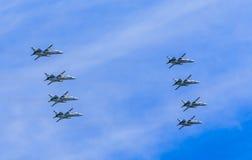 8 Sukhoi Su-24M (Fechter) Lizenzfreie Stockbilder
