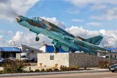 Sukhoi Su-17 monument Panino Ryssland Royaltyfria Foton